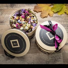 Selezione regalo: cioccolatini misti in elegante cappelliera - Gr 1500