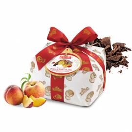 SPECIAL PEACH AND CHOCOLATE PANETTONE - 1000 g