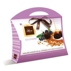 DOLCENERO - ASSORTITED PRALINES WITH CARAMEL AND RED FRUITS