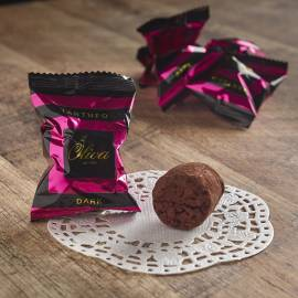 Dark Truffles with cocoa beans - 1000 g