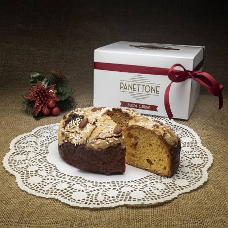 """""""Panettone"""" with almonds and candied fruits - Gluten free - 400 g"""