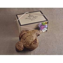 Panettone Italian Christmas Cake with almonds in elegant gift box 750g