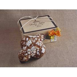 Panettone Italian Christmas Cake with almonds in elegant gift box 750g