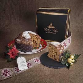 Panettone artigianale cioccolato e pere in elegante confezione regalo
